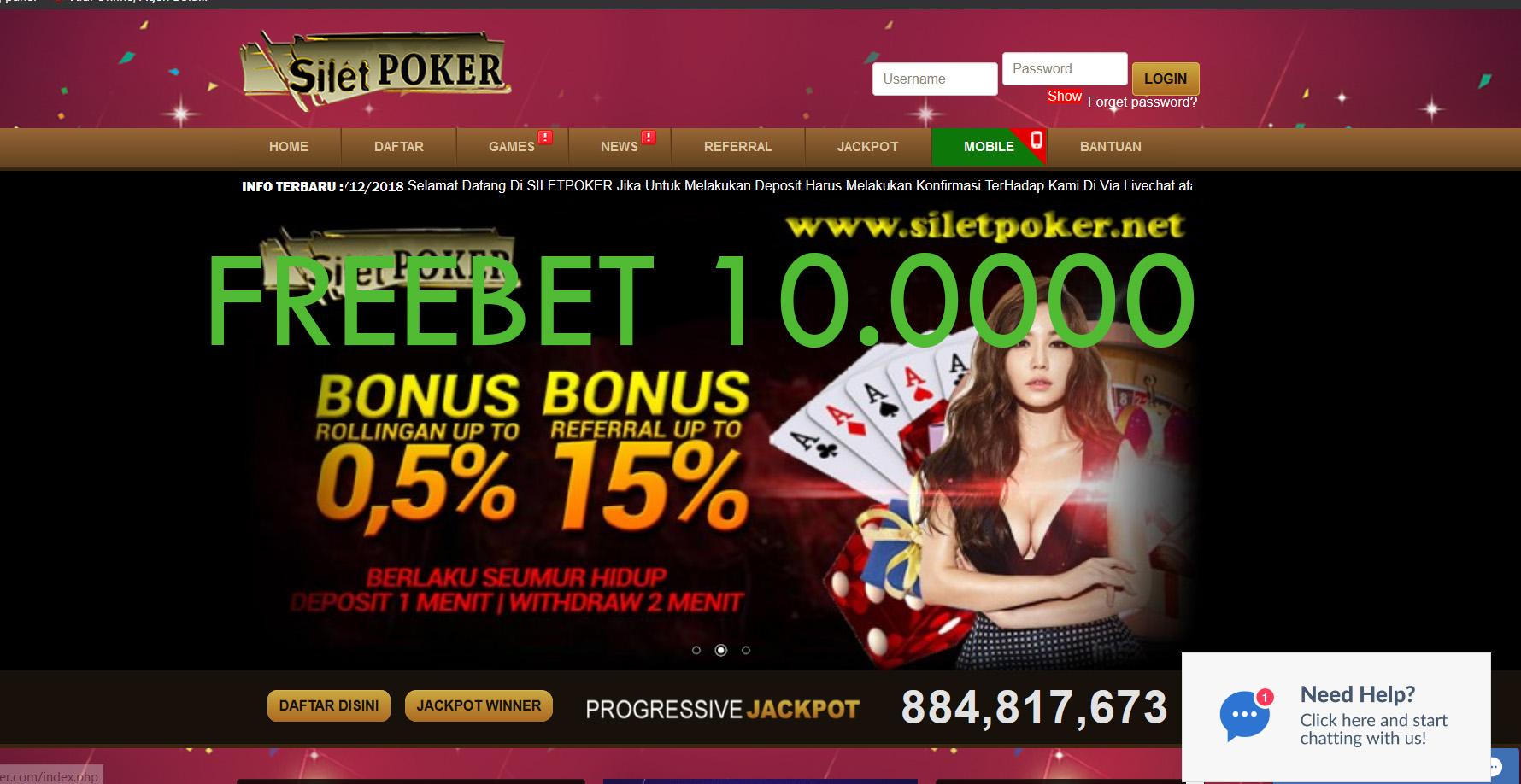 Freebet Poker Terbaru