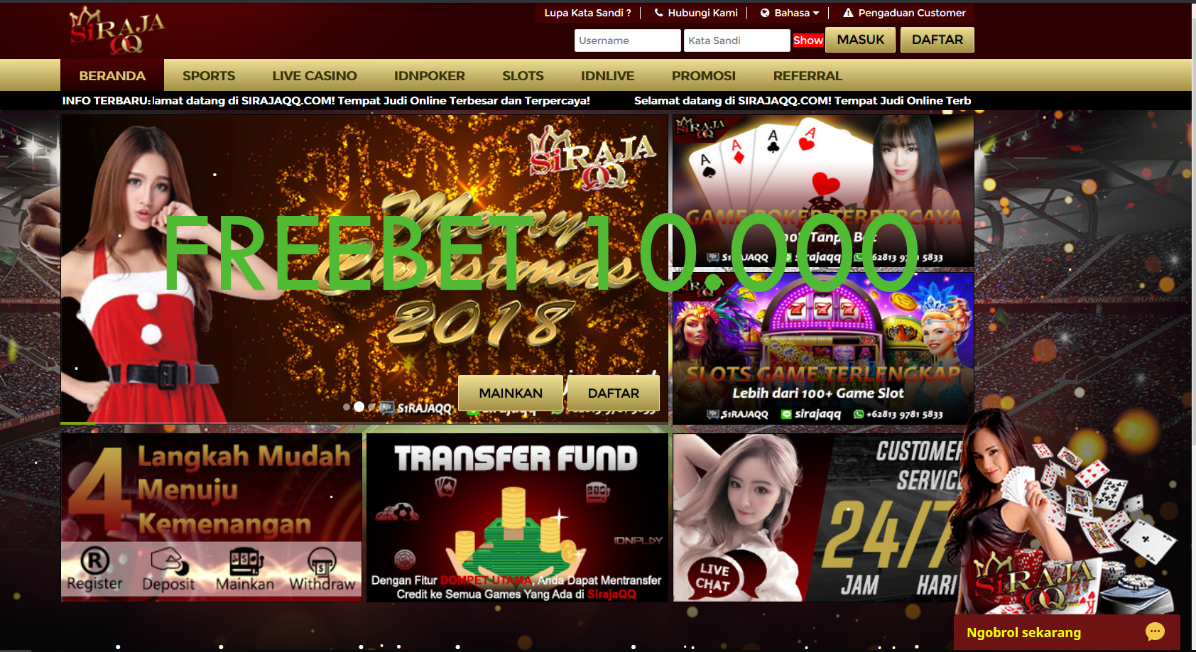 agen slot freebet