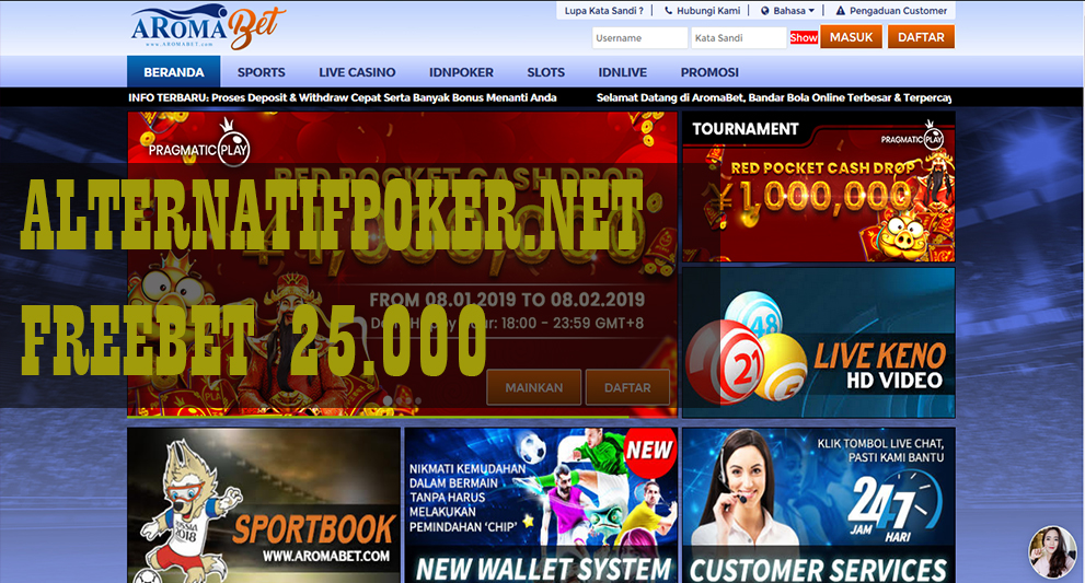 Info AromaBet Freebet Gratis Rp 25.000 Tanpa Deposit