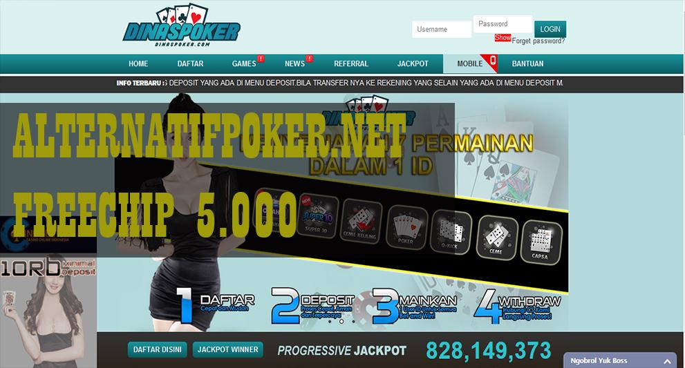 Daftar Poker Gratis Saldo Tanpa Deposit