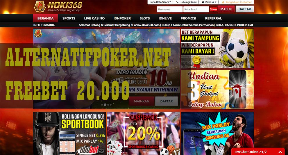 Info Hoki368 Freebet Gratis Rp 20.000 Tanpa Deposit