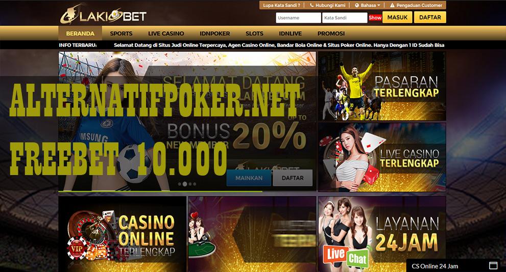 Info LakiBet Freebet Gratis Rp 10.000 Tanpa Deposit