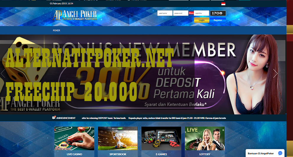 Info AngelPokerBonus Freechips Tanpa Deposit Rp 20.000